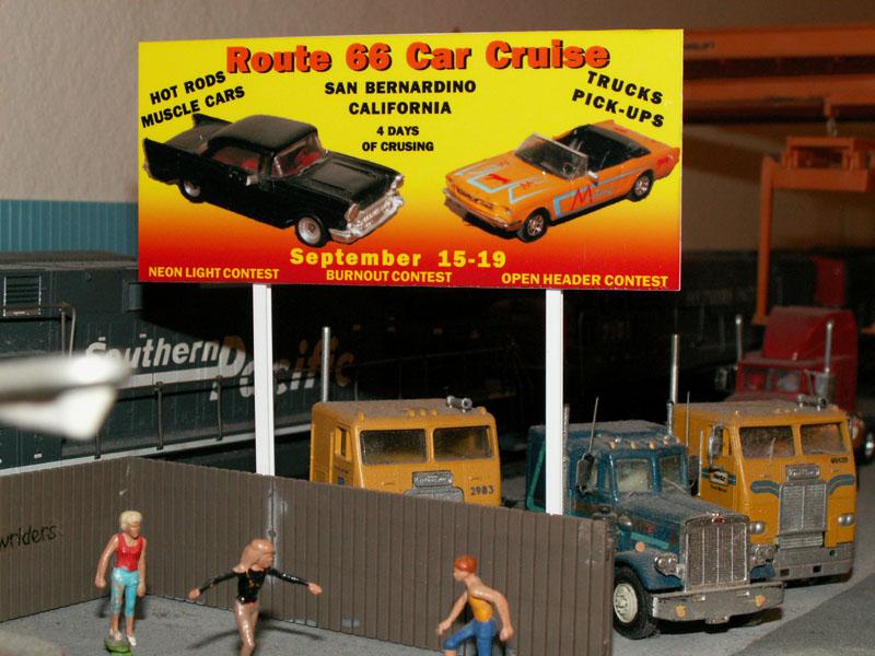 Model Billboards for HO scale model railroad layouts