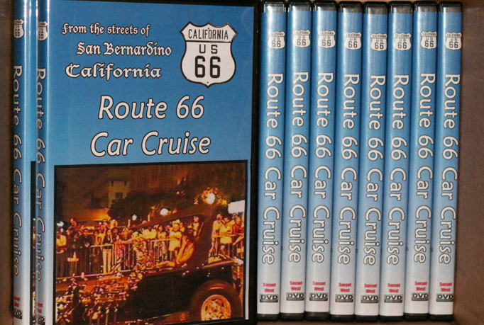 DVD duplications of Route 66 Car Cruise