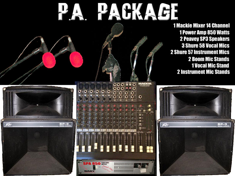 P.A. Package for rent